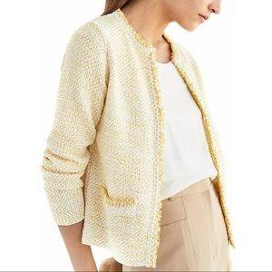 *Brand New* Massimo Dutti Tweed Yellow Cardigan M